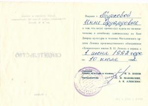 Сертификаты Инны0012